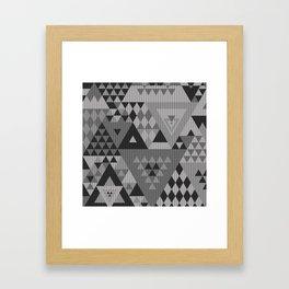 triangle-grayscale-KNIT Framed Art Print