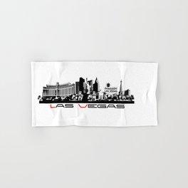 Las Vegas skyline black Hand & Bath Towel