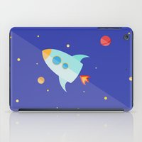 spaceship iPad Cases featuring Spaceship by Marta Perego