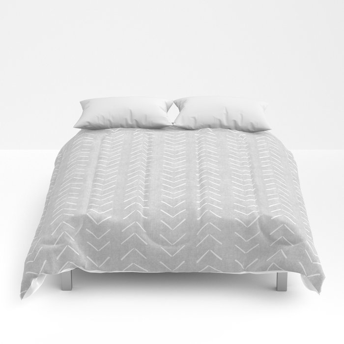 Mudcloth Big Arrows in Grey Comforters