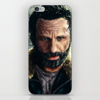 rick grimes iPhone & iPod Skins featuring The Walking Dead - Rick Grimes by p1xer