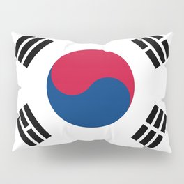National flag of South Korea, officially the Republic of Korea, Authentic version - color and scale Pillow Sham