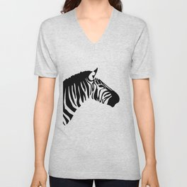 Black Zebra Unisex V-Neck