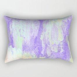Spirit : ultra violet, neon green, yellow orange, and cyan abstract ink painting Rectangular Pillow