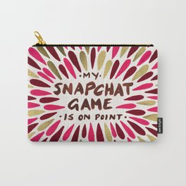 Snapchat – Red & Gold Carry-All Pouch