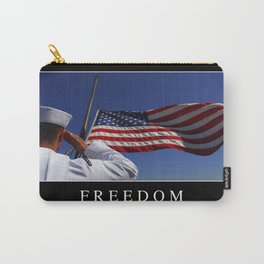 Freedom: Inspirational Quote and Motivational Poster Carry-All Pouch