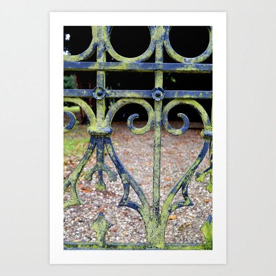 Heart and swirls Art Print