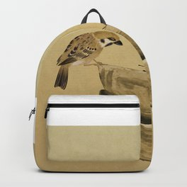 Sparrow And Bowl of Cherries Backpack