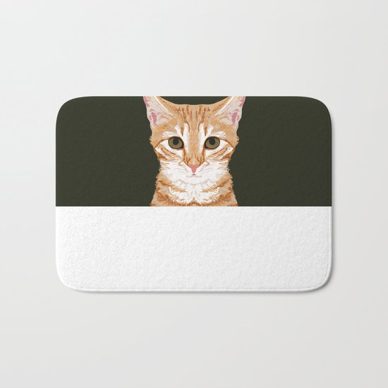 Chase - Cute Cat gifts for pet lovers cat lady gifts and perfect gifts for cat person and cute tabby Bath Mat