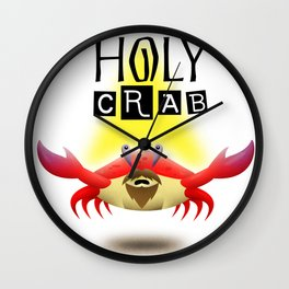 Holy Crab Wall Clock