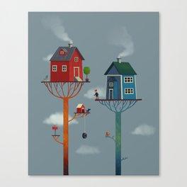 Tree Houses Canvas Print