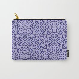 Courage of her Conviction Tiled - Violet Lavender Carry-All Pouch