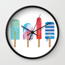 The Popsicle Lineup Wall Clock