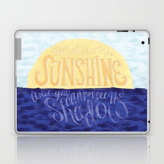 Face the Sunshine Laptop & iPad Skin