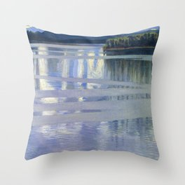 Lake Keitele - Digital Remastered Edition Throw Pillow