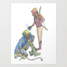 Awakening (The Meeting) Art Print