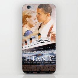 Obama and Merkel as Jack and Rose iPhone Skin