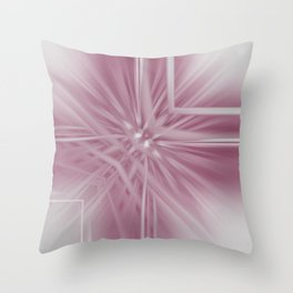 Reflecting Pastel Pink Abstract Throw Pillow