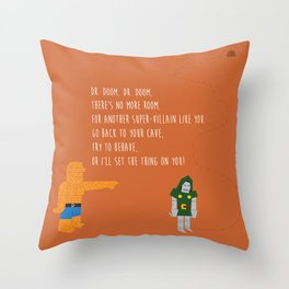Pop Culture Nursery Rhymes: Dr. Doom Throw Pillow