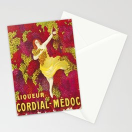 Vintage Italian Cordial Médoc Advertisement Poster by Leonetto Cappiello Stationery Cards