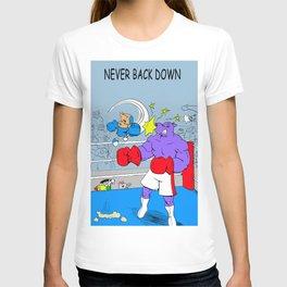 """Quixote Coyote """"Never Back Down"""" T-shirt"""