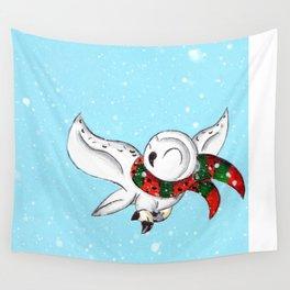 Snowy Flight Wall Tapestry
