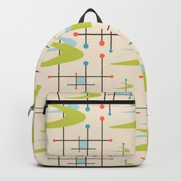 Mid Century Modern in Lime and Blush Backpack