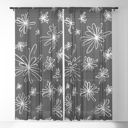 Energy Flowers Reverse Sheer Curtain