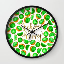 Kiwi quote Wall Clock