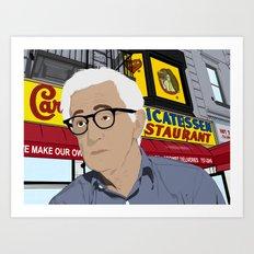 Woody Allen Cartoon Art Print
