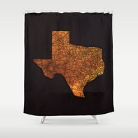 texas Shower Curtains featuring Texas by Taylor Wilson Graphics