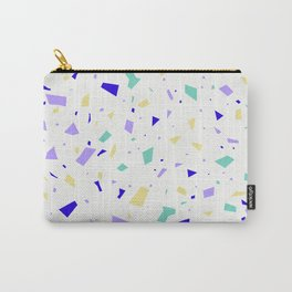 Lilac and Yellow Pastel Pale Terrazzo - Granite Marble Pattern Carry-All Pouch
