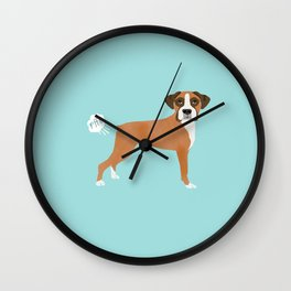 Boxer funny fart dog pure breed gifts dog lovers Wall Clock