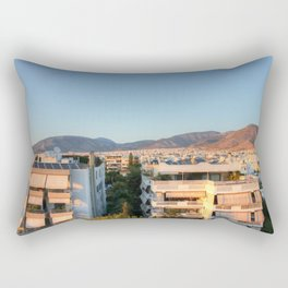 Evening Light Over Athens Rectangular Pillow