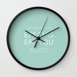 You Say Eff It Wall Clock