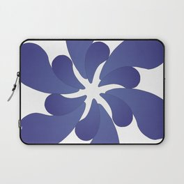 Indigo ombre six-petaled spiral flower Laptop Sleeve