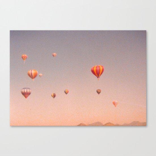 vintage hot air balloons in rio Canvas Print