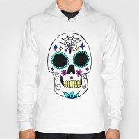 sugar skull Hoodies featuring Sugar Skull by Julie Erin Designs