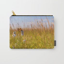 Butterfly on the Prairie Wildflowers Carry-All Pouch