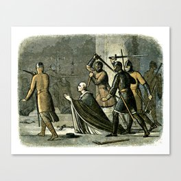 Murder of Thomas Becket Canvas Print