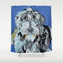 Irish Wolfhound Dog Portrait Shower Curtain