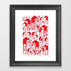 Elephant Herd 2 Framed Art Print