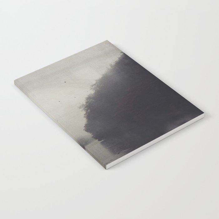 Bridge and River in Fog Notebook