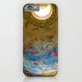 Frescoes of La Maddalena Cathedral, Rome, Italy iPhone Case