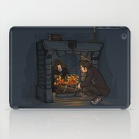 hallion iPad Cases featuring The Witch in the Fireplace by Karen Hallion Illustrations