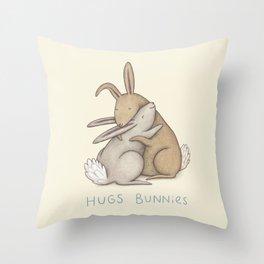 Hugs Bunnies Throw Pillow