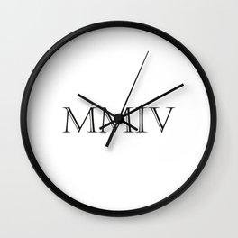 Roman Numerals - 2004 Wall Clock