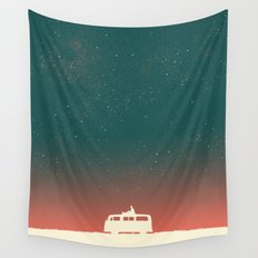 Quiet Night - starry sky Wall Tapestry