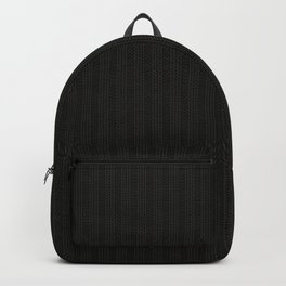 Antiallergenic Hand Knitted Black Wool Pattern - Mix & Match with Simplicty of life Backpack