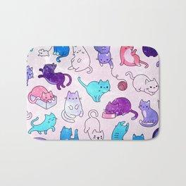 Space Cats Pattern Bath Mat
